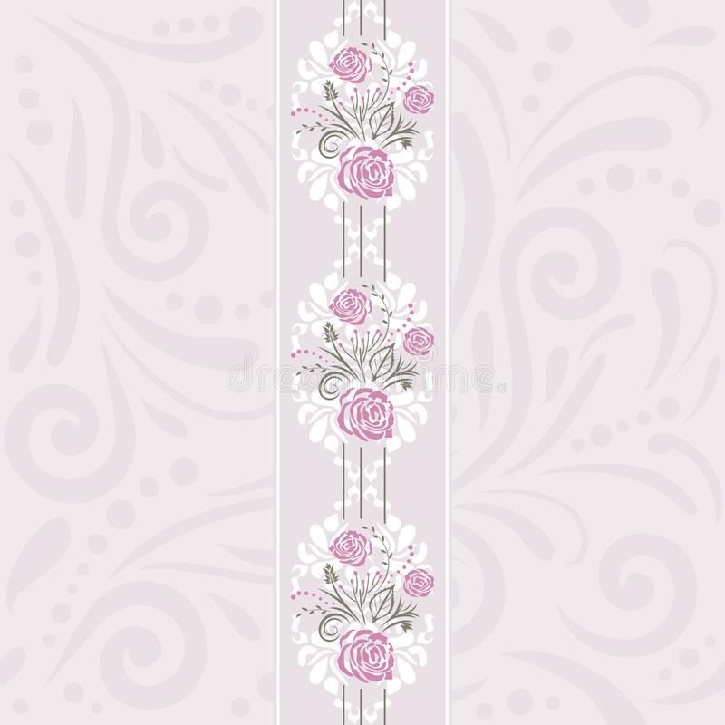 Seamless pattern with stylized roses for scrapbook cover royalty free stock photos