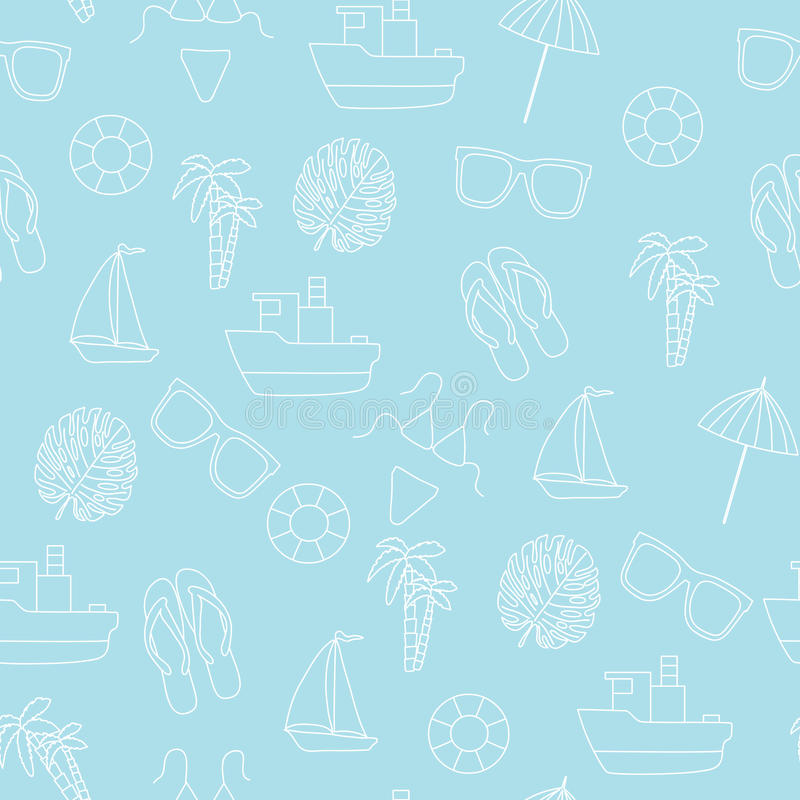 Seamless pattern. Summer and sea. stock image