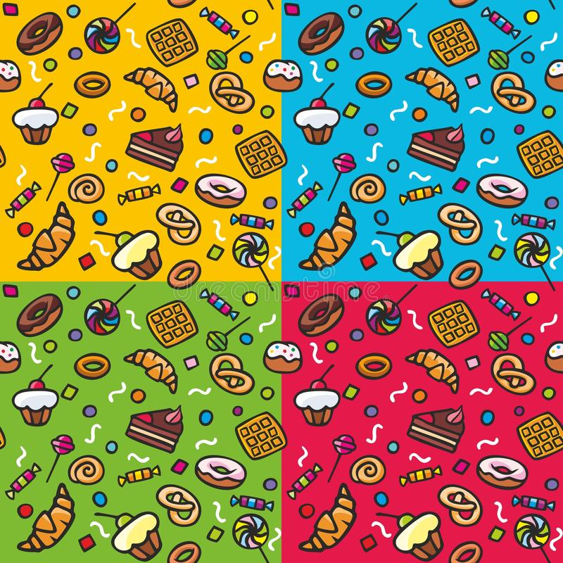 Download Seamless pattern: Sweets stock vector. Illustration of candy - 23773478