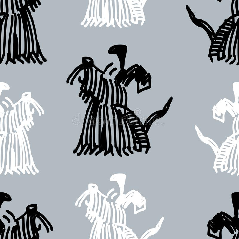 Seamless pattern of terriers sketches royalty free illustration
