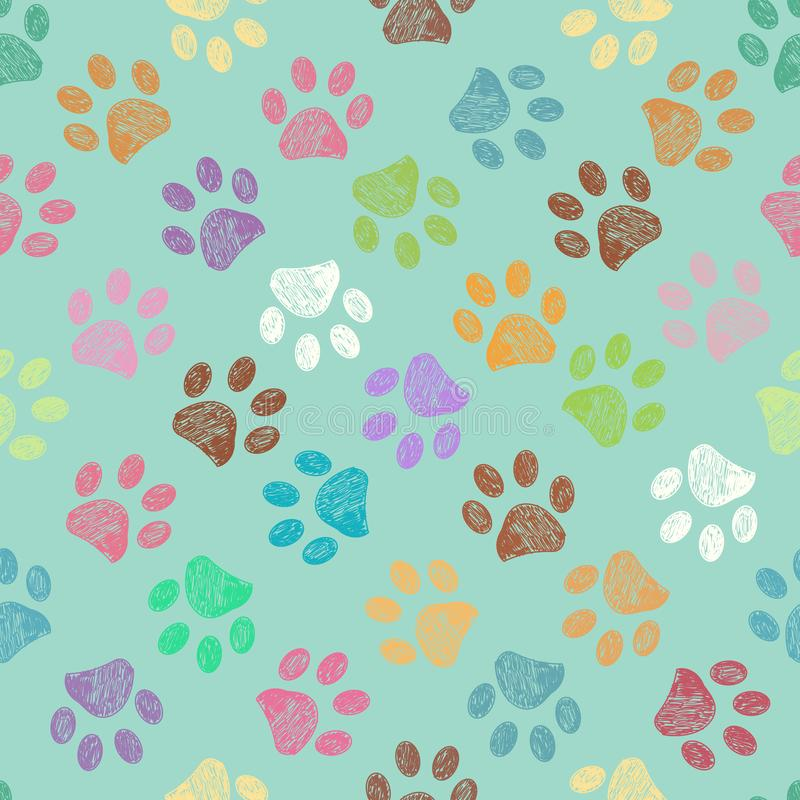 Seamless pattern for textile design. Seamless doodle colorful candy colors pattern vector illustration