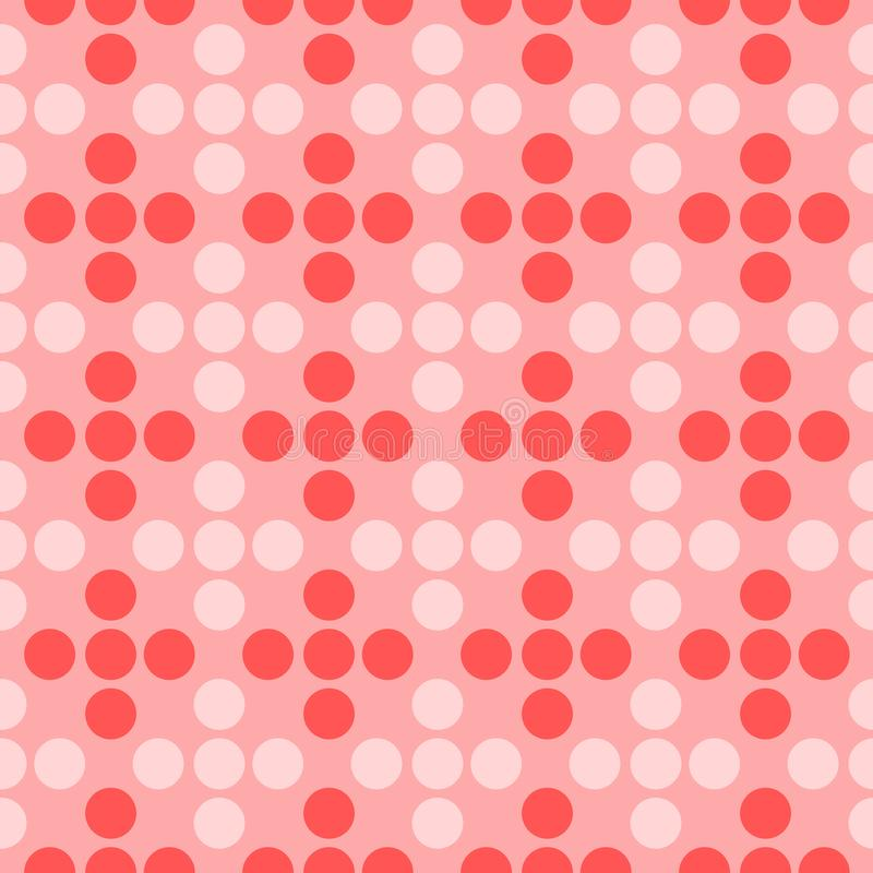 Seamless Pattern Texture Of Geometric Dots in Three Shades Of Pink royalty free illustration