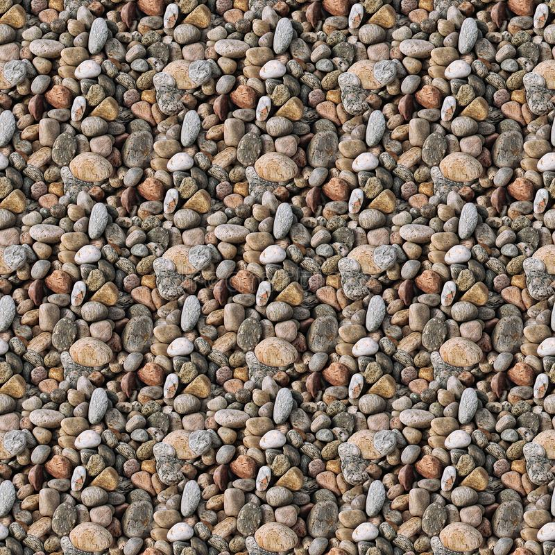 Seamless pattern texture of river pebbles royalty free stock images