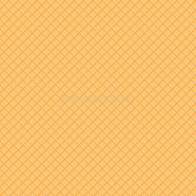 Seamless pattern. The texture of the waffle, an ice cream cone. Cartoon illustration for web, site, advertising, banner royalty free stock photos
