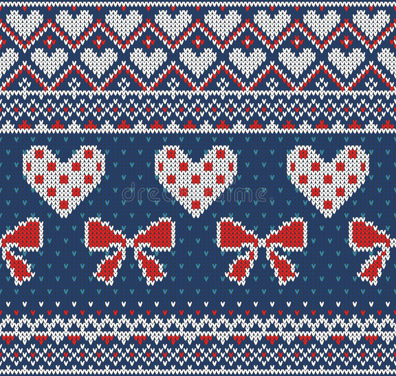 Seamless Pattern On The Theme Of Holiday Valentines Day With An