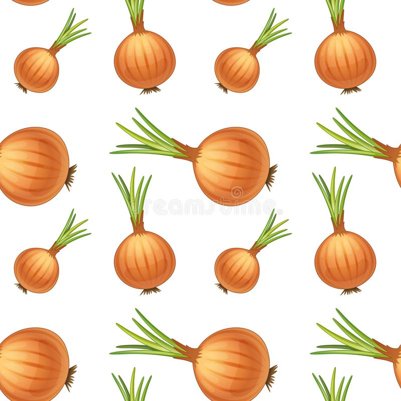 Seamless pattern tile cartoon with onions royalty free illustration
