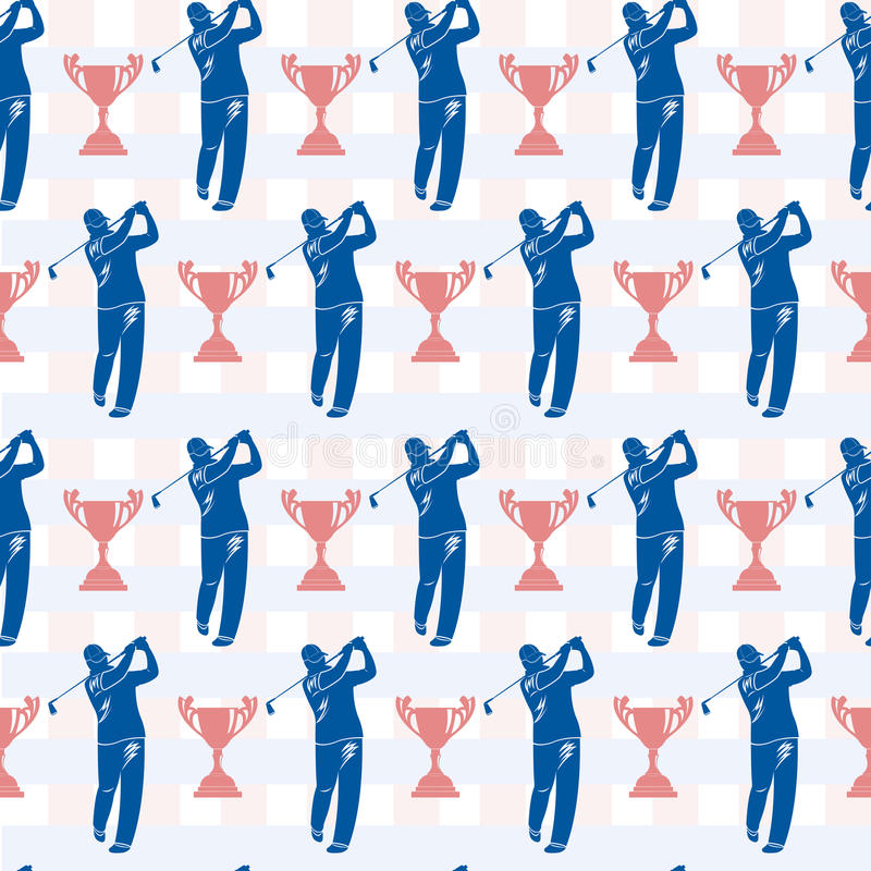 Seamless pattern to topic golf and sports. royalty free illustration