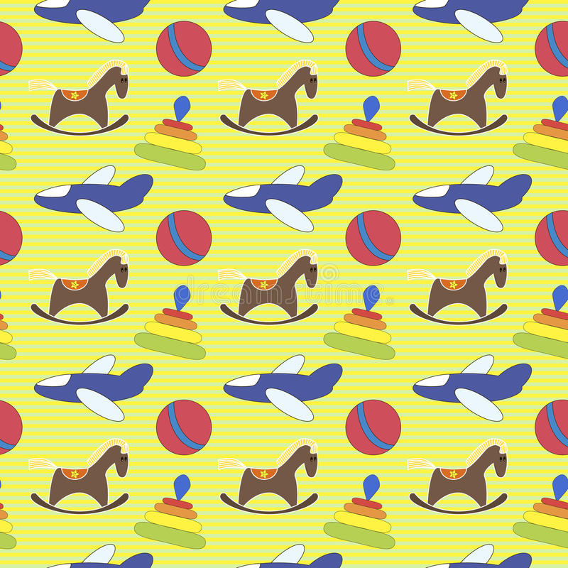 Seamless pattern toys. Seamless pattern for kids toys royalty free illustration