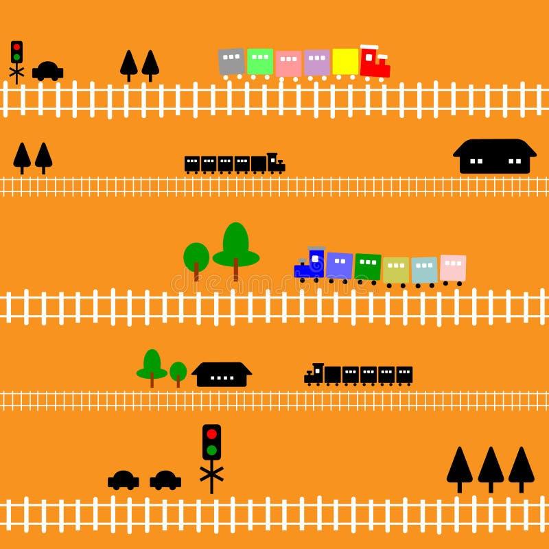 Download Seamless Pattern Train Railway For Kids Stock Illustration - Illustration: 15840666