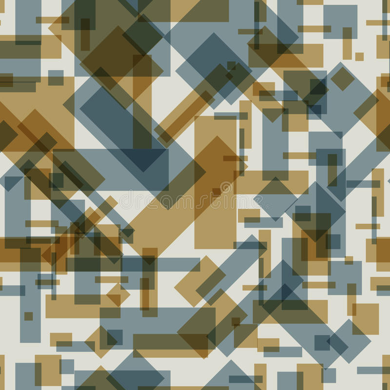 Seamless pattern with transparent rectangles royalty free illustration