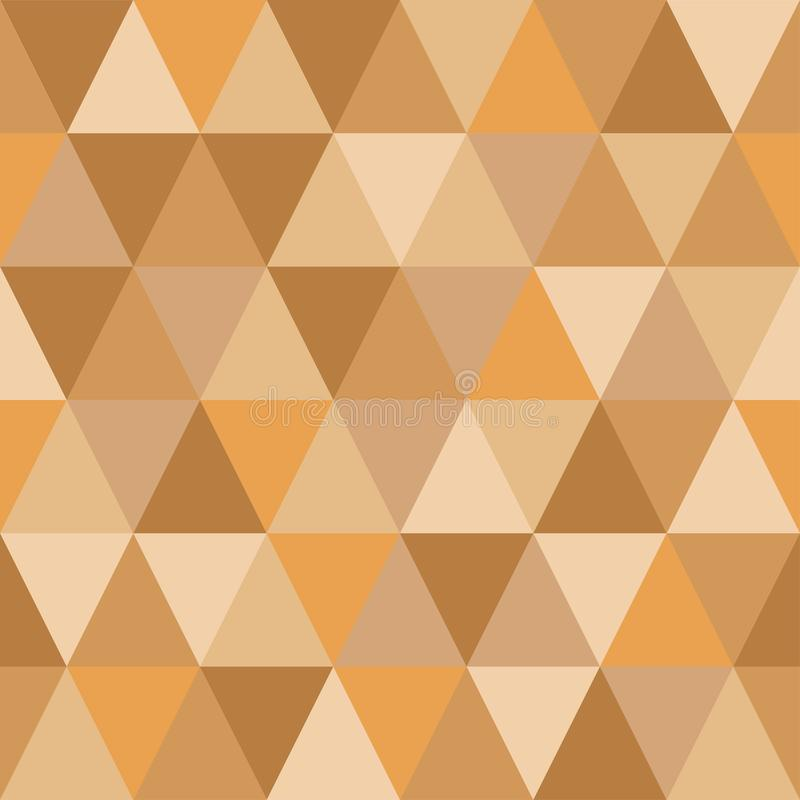 Seamless pattern of triangles of autumn hues. Seamless pattern of triangles of golden hues.Simple forms, light autumn shades royalty free illustration