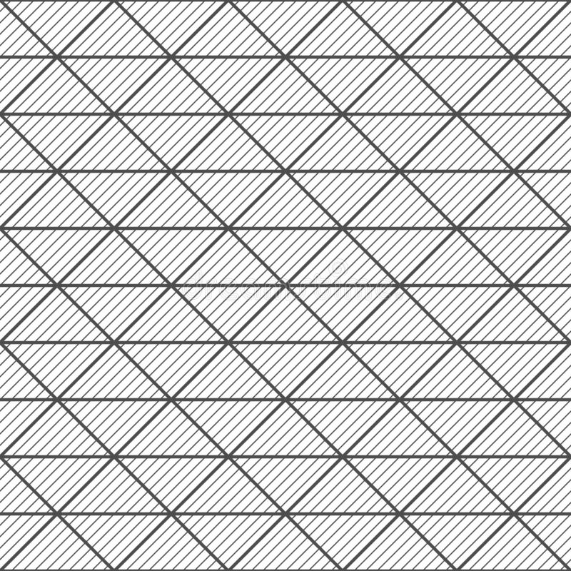 Seamless pattern of triangles. Geometric striped background. royalty free illustration