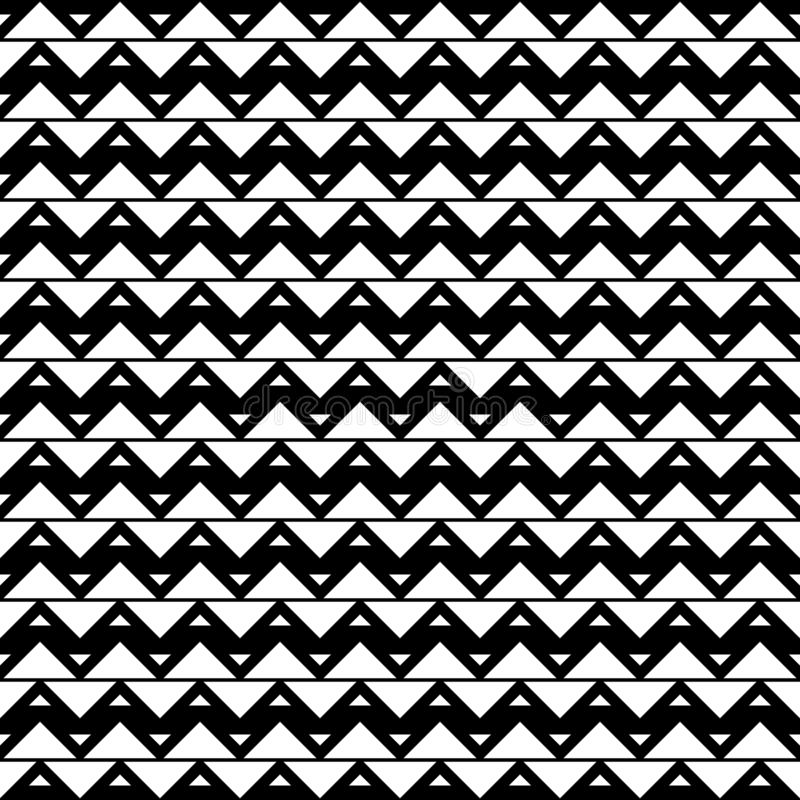 Seamless pattern of triangles. Geometric zigzag background stock photography
