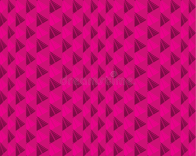 Seamless pattern with triangles pink elements pink. Illusion pink pattern. vector illustration
