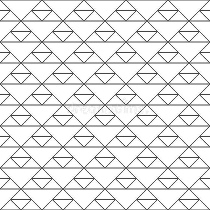 Seamless pattern of triangles. Unusual lattice. Geometric background. stock illustration