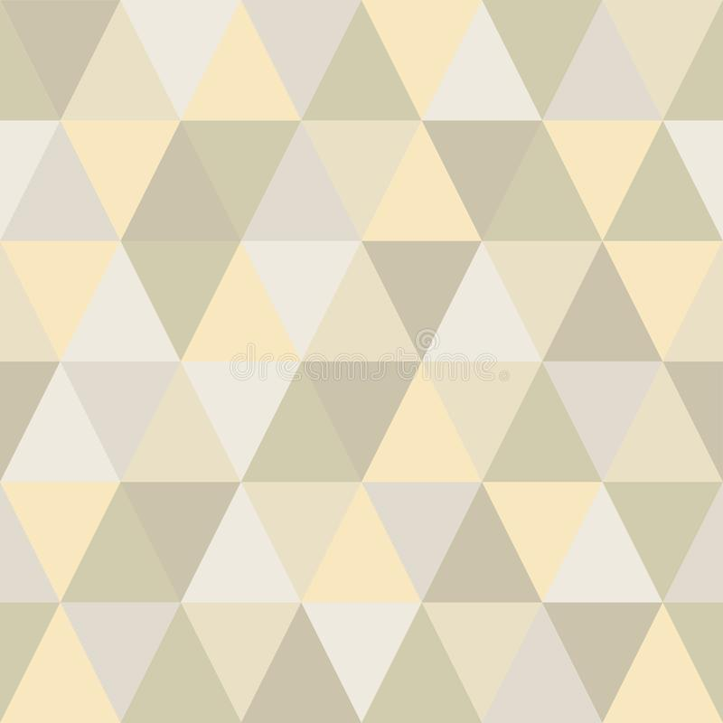 Seamless pattern of triangles is very light and delicate hues stock illustration