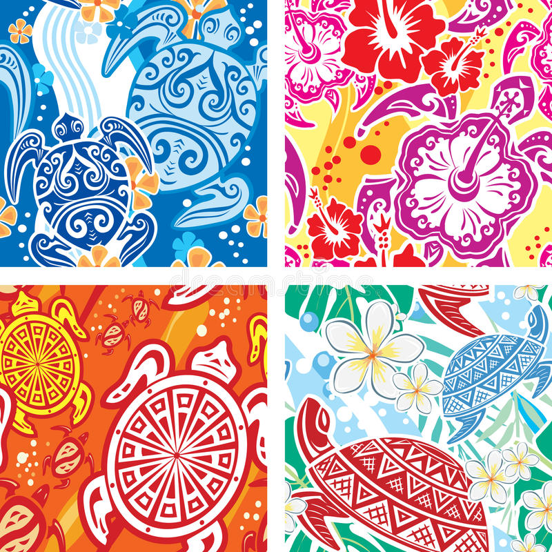 Download Seamless Pattern With Turtles Stock Photo - Image: 19771910