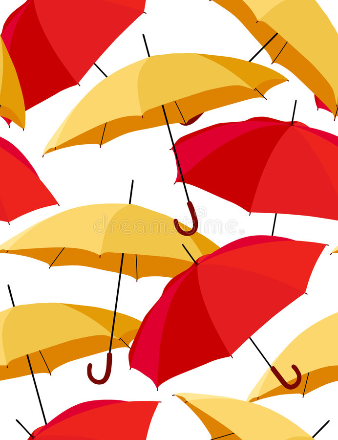 Download Seamless Pattern With Umbrellas Stock Vector - Image: 8182706