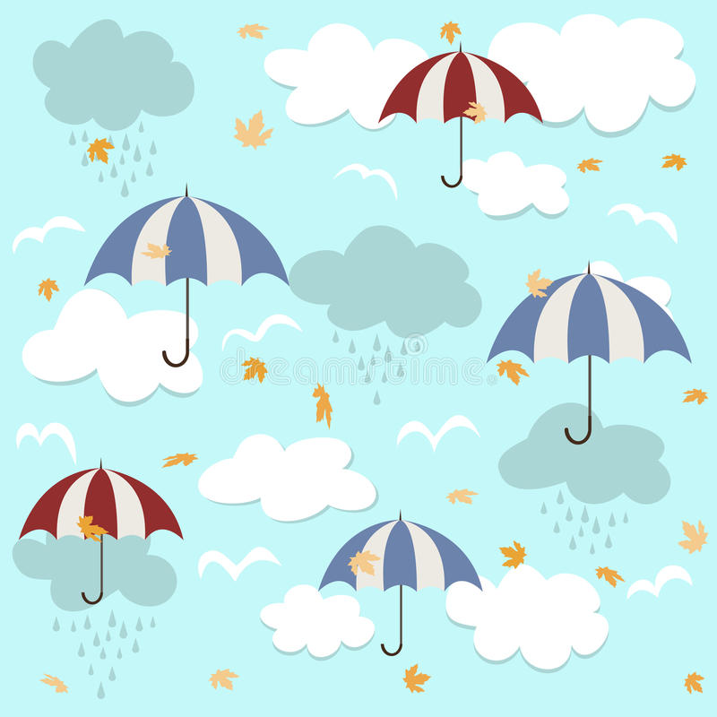 Seamless pattern with umbrellas royalty free illustration