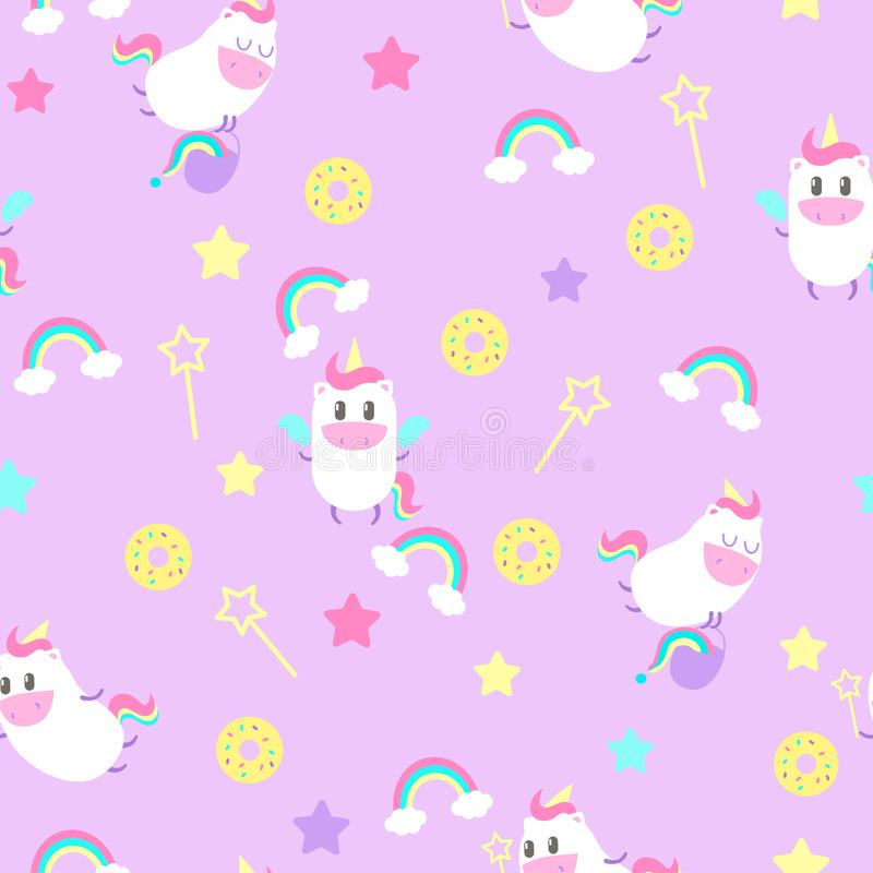 Seamless pattern with unicorns royalty free stock images