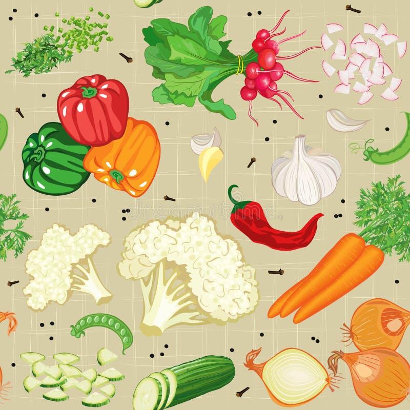 Vegetables mix royalty free illustration