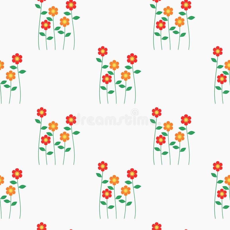 Seamless pattern vector of beautiful tiny flower bouquet. Lovely and sweet flower bouquet on pastel background vector illustration