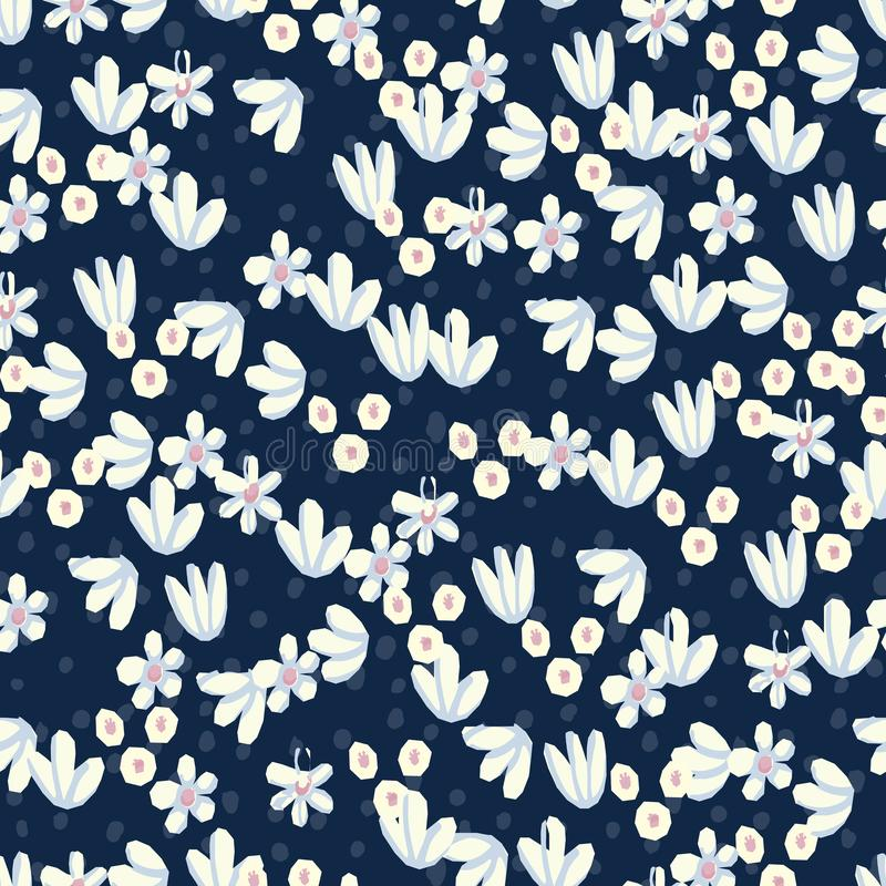 Seamless pattern Vector floral design. Romantic background print for fabrics and wallpapers. vector illustration