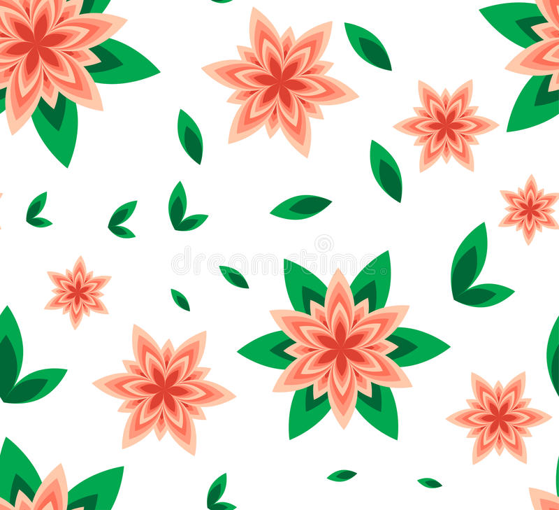 seamless pattern vector flower peach stock vector illustration of rh dreamstime com flower pattern vector freepik flower pattern vector border