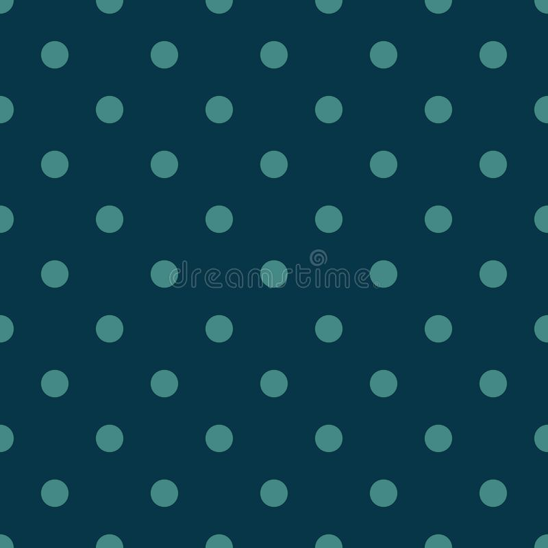 Seamless pattern vector with green polka dots on Blue color background For desktop wallpaper, web design, cards, invitations, wedd. Ing or baby shower albums royalty free illustration