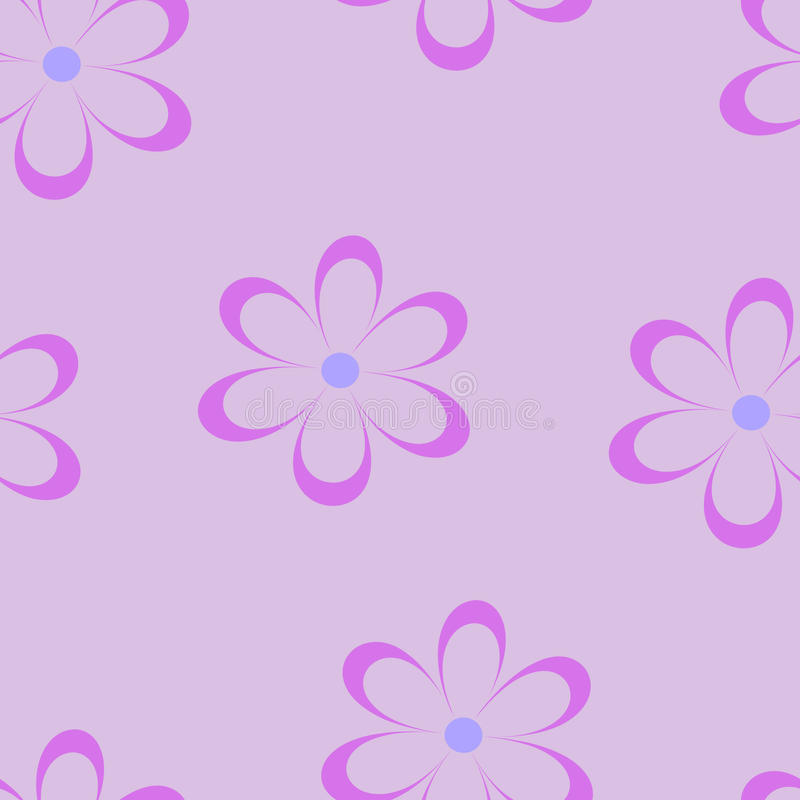 Seamless pattern. Vector illustration with flowers. royalty free illustration