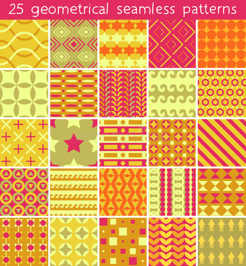25 seamless pattern. Vector seamless pattern. Endless texture can be used for printing onto fabric, paper or scrap booking, wallpaper, pattern fills, web page royalty free illustration