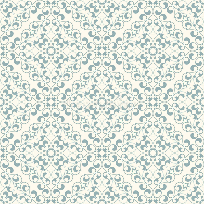 Seamless pattern. Vintage seamless pattern in classic style in soft retro colors stock illustration