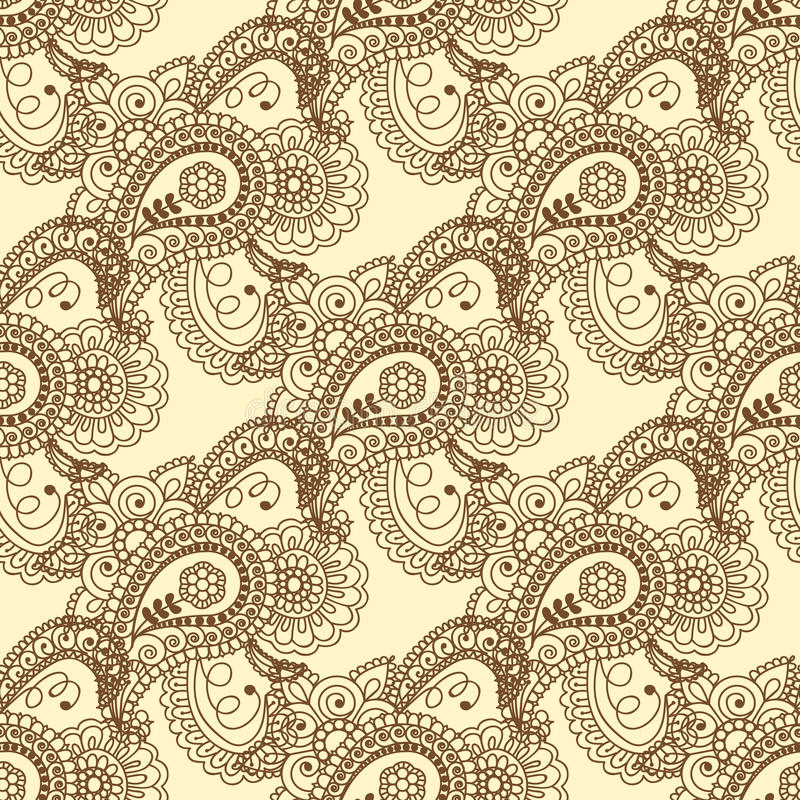 Seamless pattern. Vintage decorative elements. Hand drawn background. Islam, Arabic, Indian, ottoman motifs. Perfect for printing vector illustration