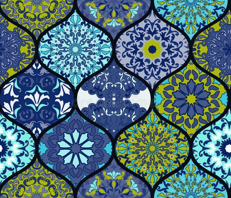Seamless pattern. Vintage decorative elements. vector illustration
