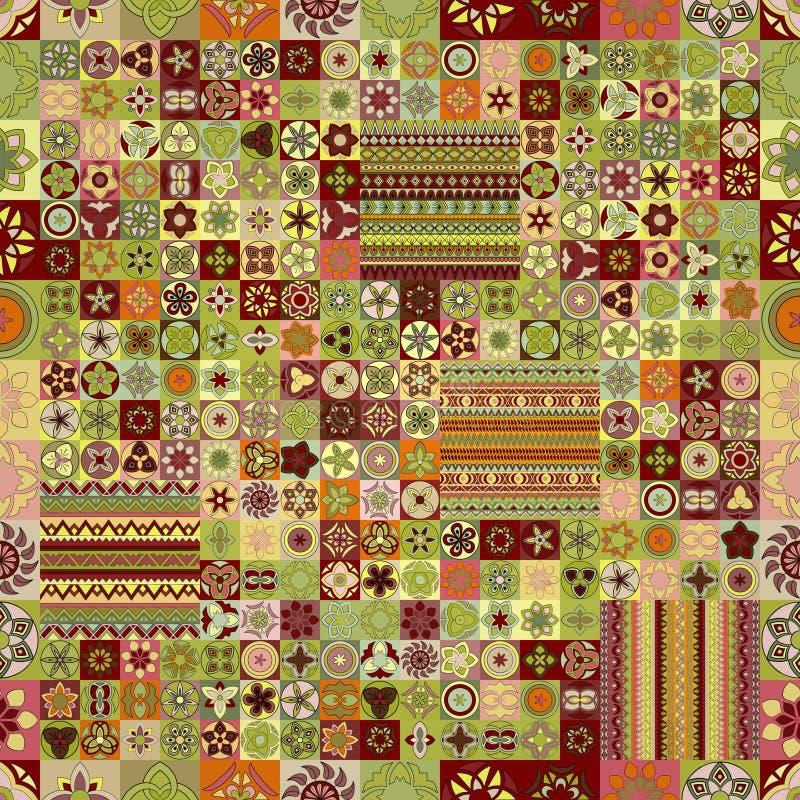 Seamless pattern. Vintage decorative elements. Hand drawn background. Islam, Arabic, Indian, ottoman motifs. royalty free stock image