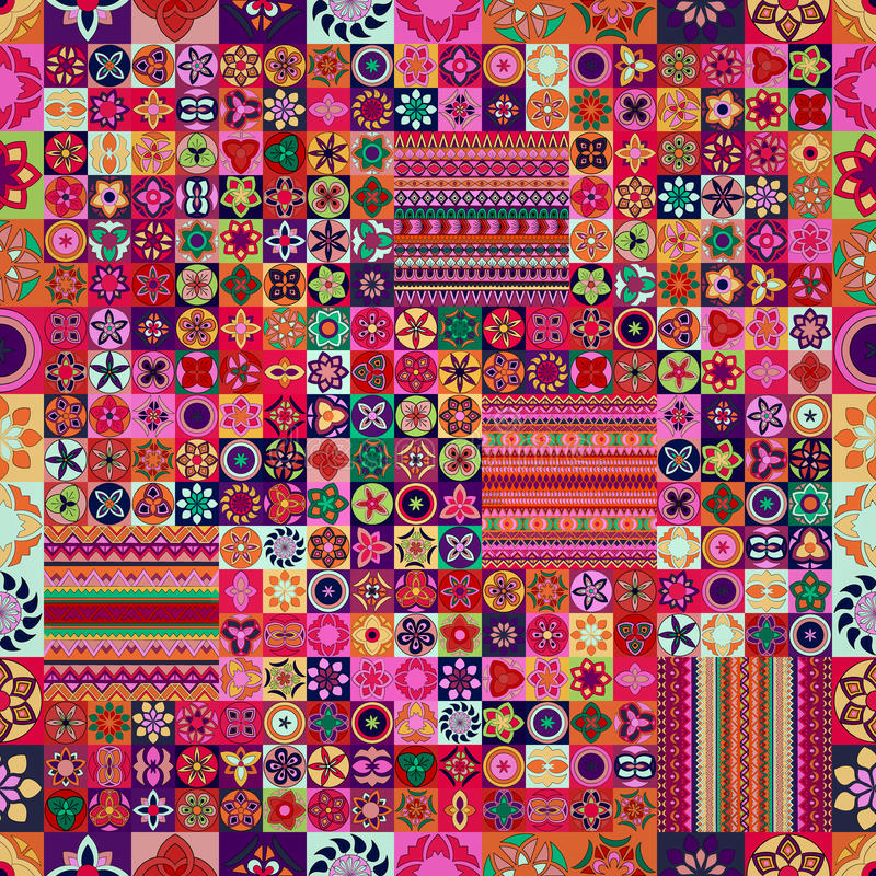 Seamless pattern. Vintage decorative elements. Hand drawn background. Islam, Arabic, Indian, ottoman motifs. royalty free stock photos