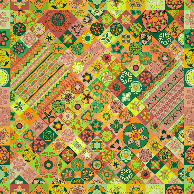 Seamless pattern. Vintage decorative elements. Hand drawn background. Islam, Arabic, Indian, ottoman motifs. Perfect for printing on fabric or paper stock photography