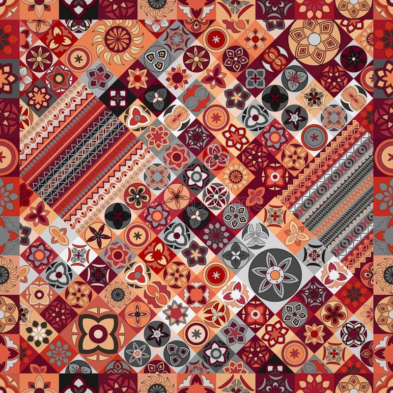 Seamless pattern. Vintage decorative elements. Hand drawn background. Islam, Arabic, Indian, ottoman motifs. stock images