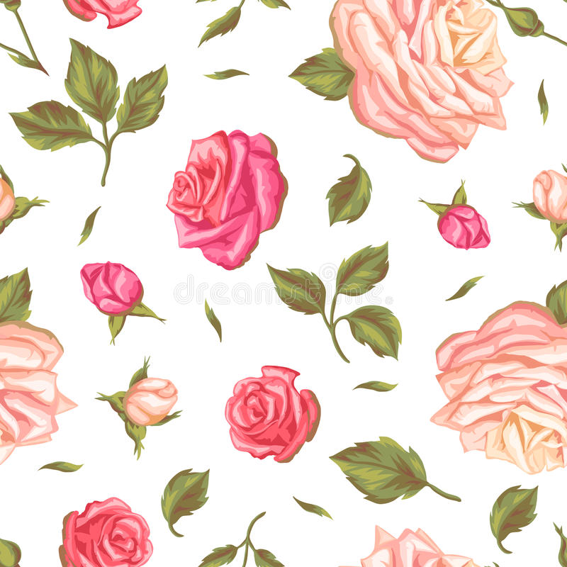 Seamless pattern with vintage roses decorative retro flowers easy download seamless pattern with vintage roses decorative retro flowers easy to use for backdrop mightylinksfo