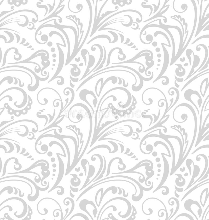 Seamless pattern. Vintage style background with floral ornaments. stock illustration