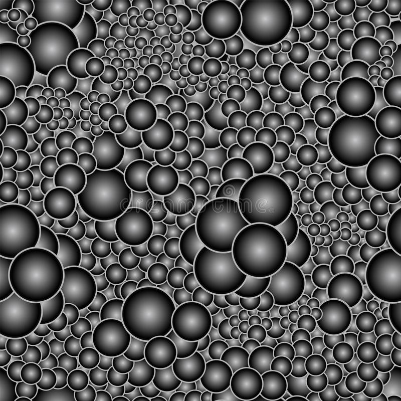 Seamless pattern with voluminous black and white balls royalty free illustration
