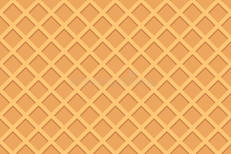 Seamless pattern of waffle. The texture of the waffle. Sweet food royalty free illustration