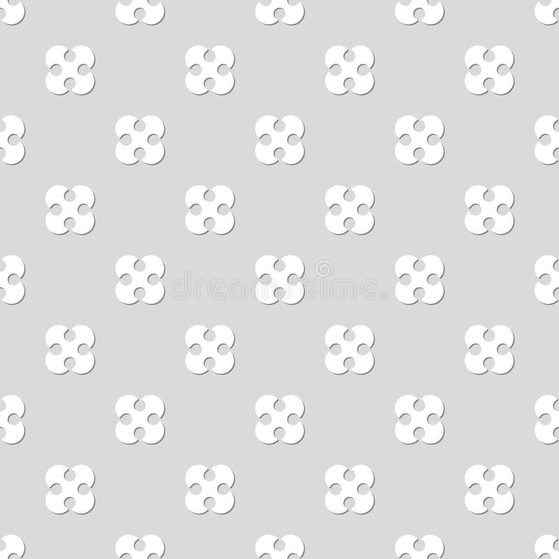 Seamless pattern. Wallpaper from the rounded figures. Abstract b. Ackground. Good design stock illustration