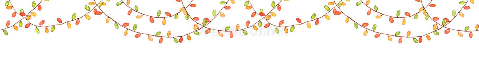 Seamless pattern with watercolor garland royalty free illustration
