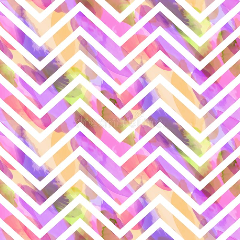 Seamless pattern of watercolor hand painting stains. Vector illustration created with custom brushes, not auto-tracing royalty free illustration