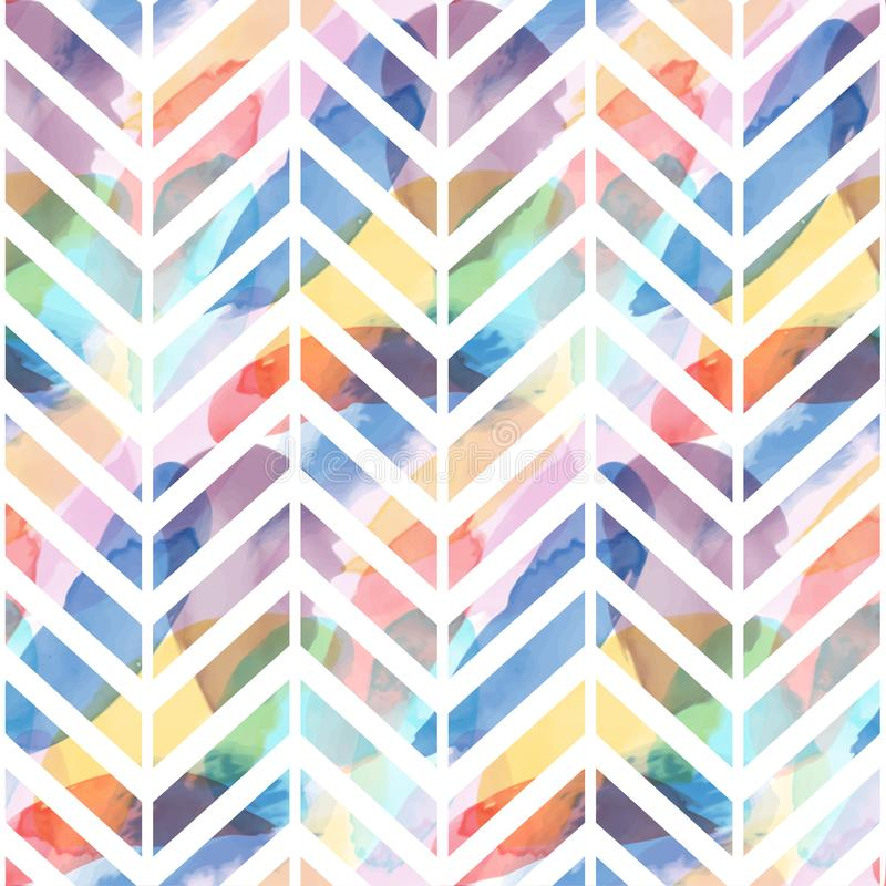 Seamless pattern of watercolor hand painting stains. Vector illustration created with custom brushes, not auto-tracing stock illustration