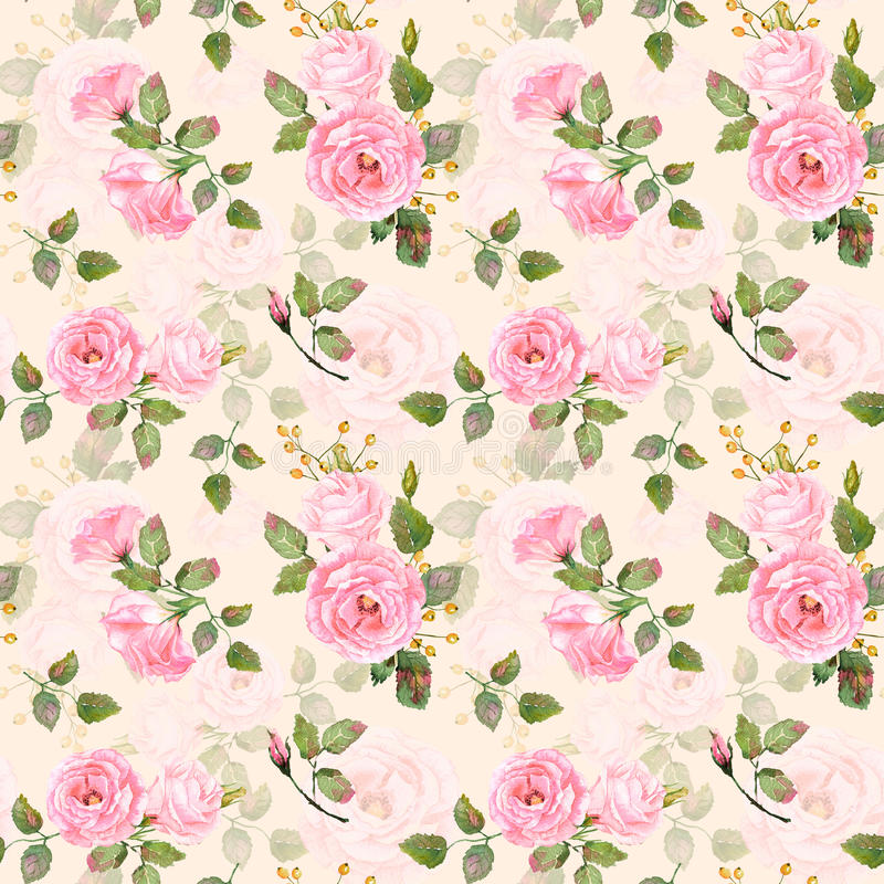 Seamless pattern of watercolor pink roses stock illustration download seamless pattern of watercolor pink roses stock illustration illustration of plants paint mightylinksfo