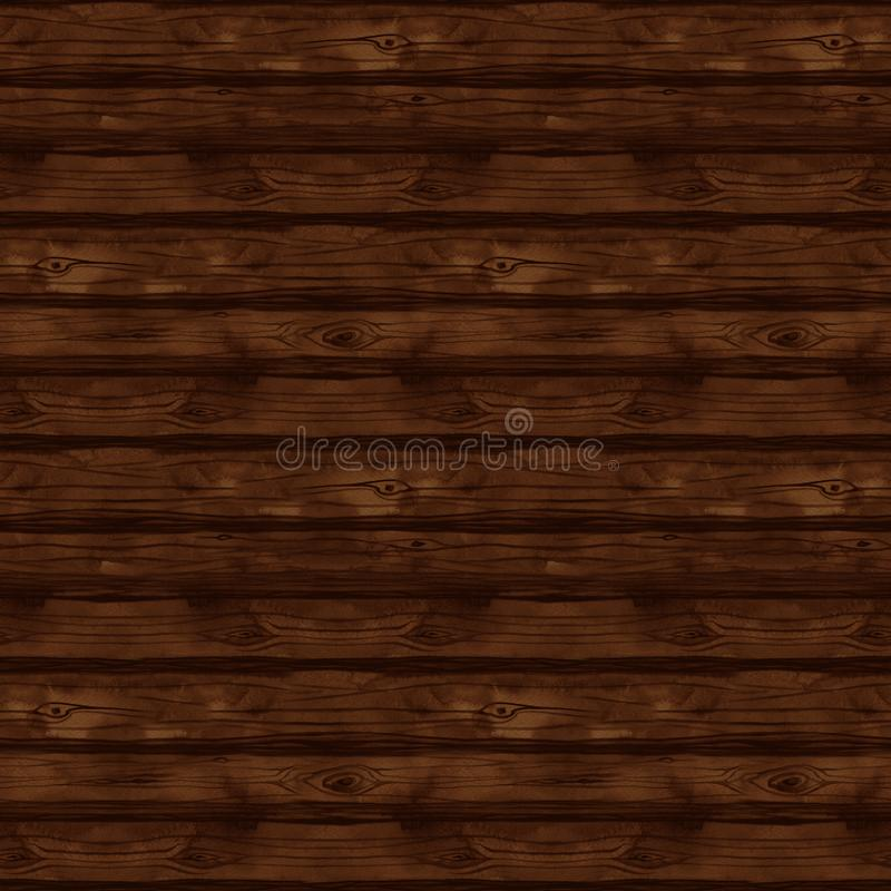 Seamless pattern with watercolor wood texture, boards, fence, floor, wall, wood, tree, firewood, timber, lumber vector illustration