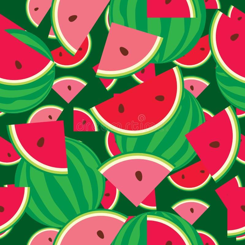 Seamless pattern of watermelon stock illustration