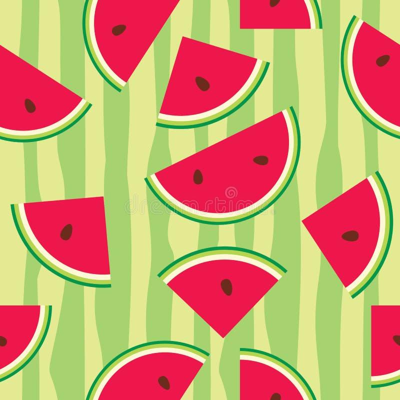 Seamless pattern of watermelon vector illustration